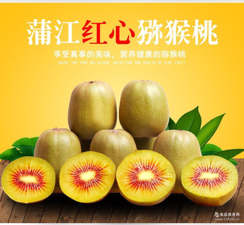 预售水果│红心猕猴桃90-100克│正宗四川蒲江新鲜奇异果红阳