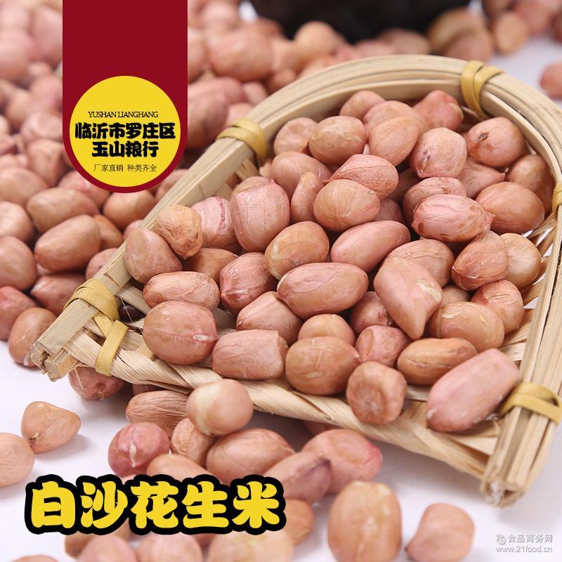 山东花生米 花生米 休闲零食25kg 榨油原料 现货批发 白沙花生
