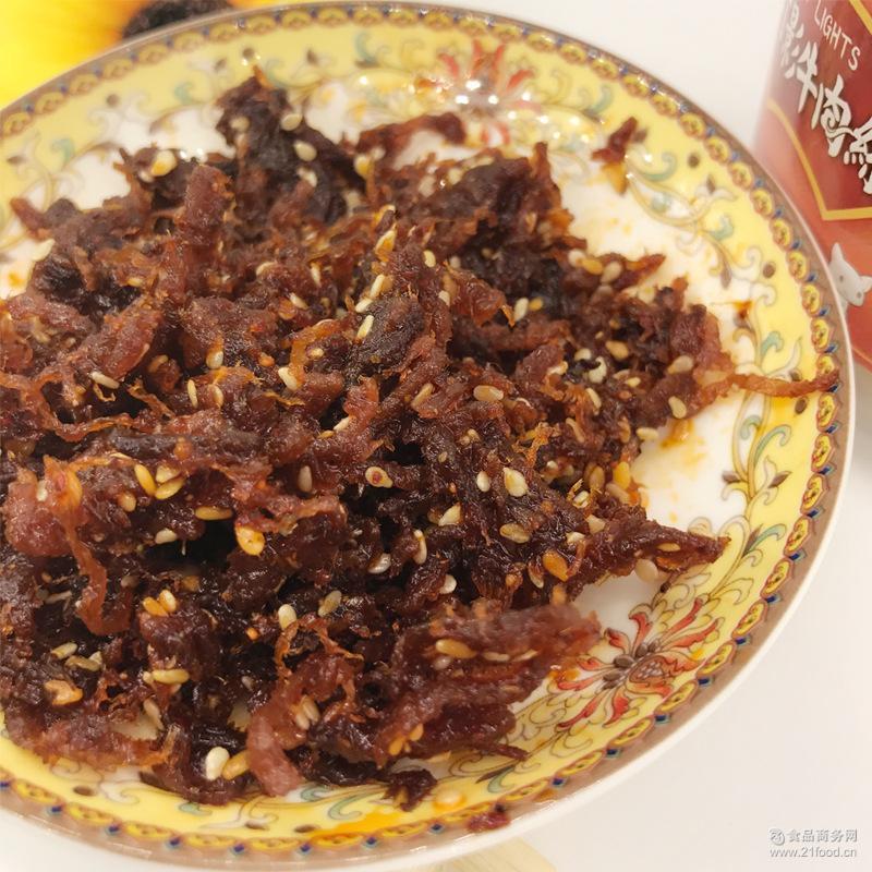 肉质辣条零食批发 办公休闲食品 四川特产麻辣五香味牛肉丝