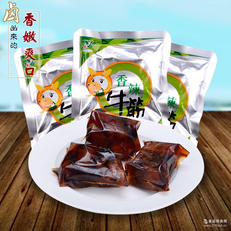 牛蹄筋休闲零食有韧劲 真空独立小包装 骥洋香辣牛筋 约22g