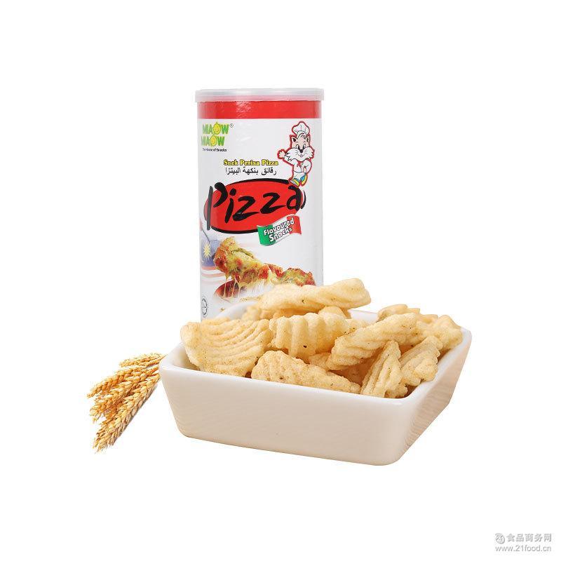 妙妙香脆片披萨味酥 香薯片罐装75g膨化零食品批发 马来西亚进口