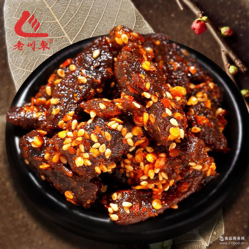 老川东麻辣牛肉干100g肉条肉脯四川成都特产香辣小吃35袋/箱