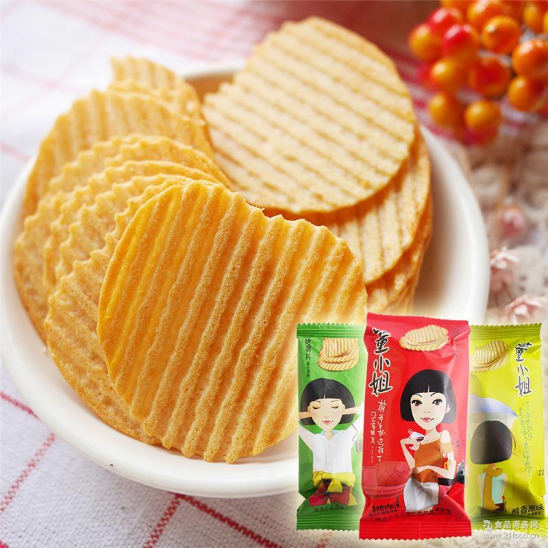 小王子董小姐薯片非油炸约36g(整箱五斤约70个)膨化休闲食品