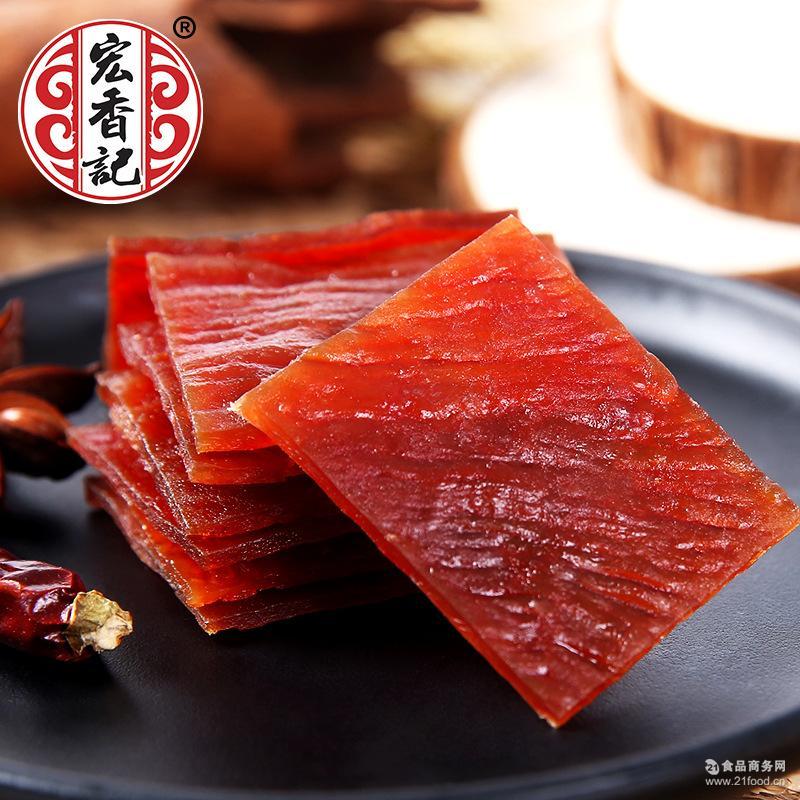 福建特产厂家85g烧烤猪肉脯批发一件代发 微商休闲零食贴牌OEM