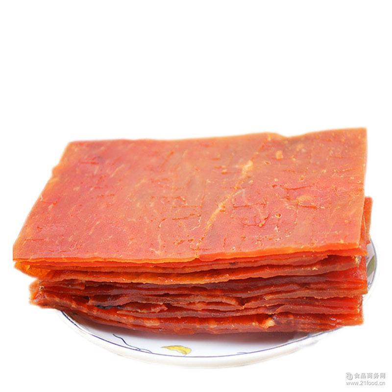 包邮大片猪肉干500g蜜汁酱烤猪肉脯办公室休闲零食品