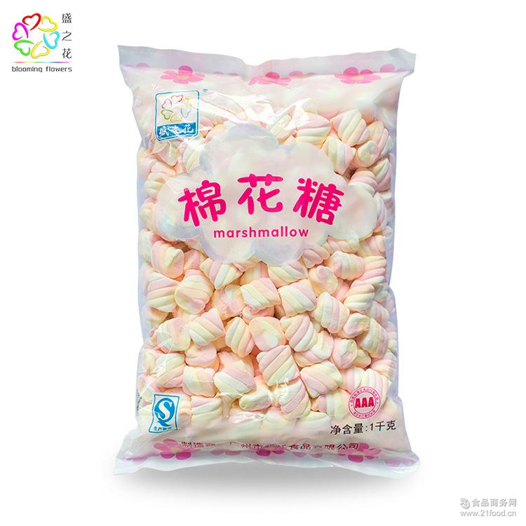 烘焙装饰泡咖啡1000g 糖果零食批发 盛之花 创意迷你棉花糖