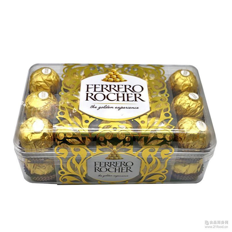 礼盒装巧克力零食批发 意大利进口费列罗巧克力礼盒装30颗