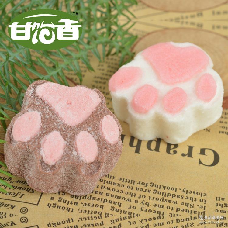 【甘饴香】糖果厂家定制代工卫生易溶咖啡伴侣猫爪棉花糖送礼佳品