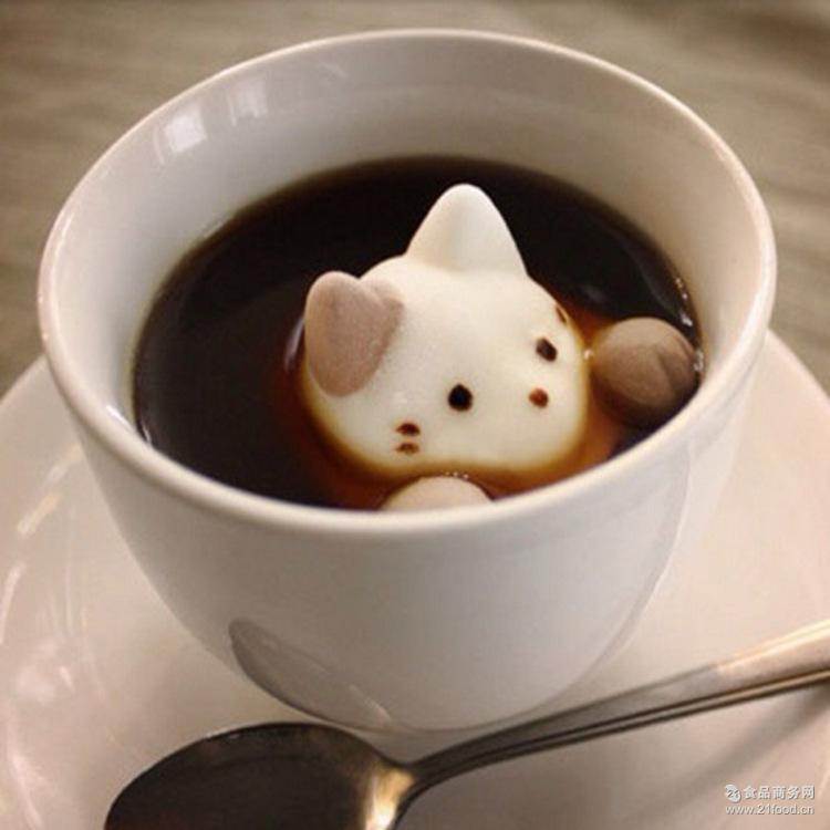 奶茶咖啡伴侣手工猫咪猫爪棉花糖生日礼物送女友儿童独立包装散装