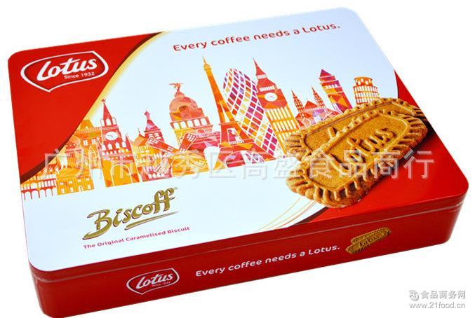 比利时原装进口和情焦糖饼干655g礼盒年货*咖啡伴侣