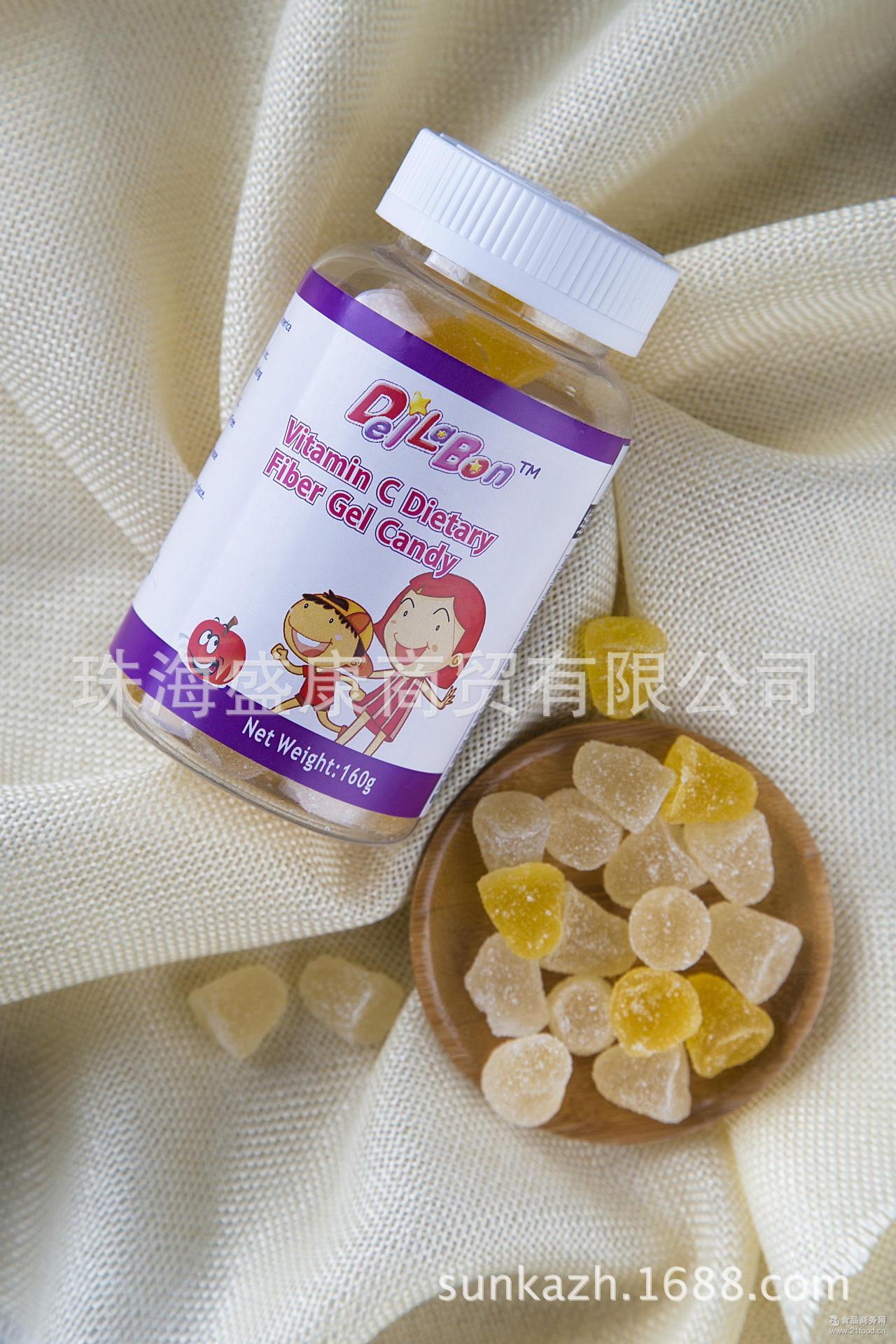 藻油维生素C膳食纤维凝胶糖果进口天然健康北美儿童医生推荐