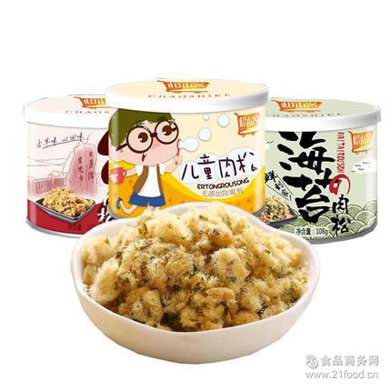 零食超人儿童肉松寿司材料宝宝辅食儿童海苔肉松猪肉松110g