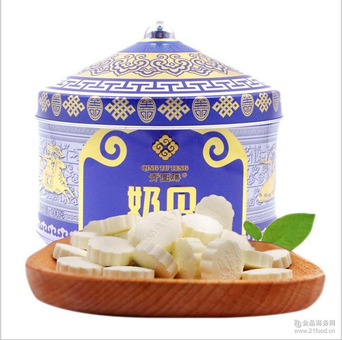 内蒙古特产乳制品青图腾礼盒装奶贝牛奶片100g蒙古包草原休闲食品