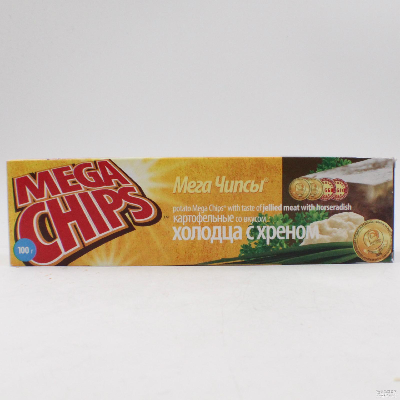 香甜酥脆膨化儿童零食批发 俄罗斯原装进口宾格瑞恋人50克薯片