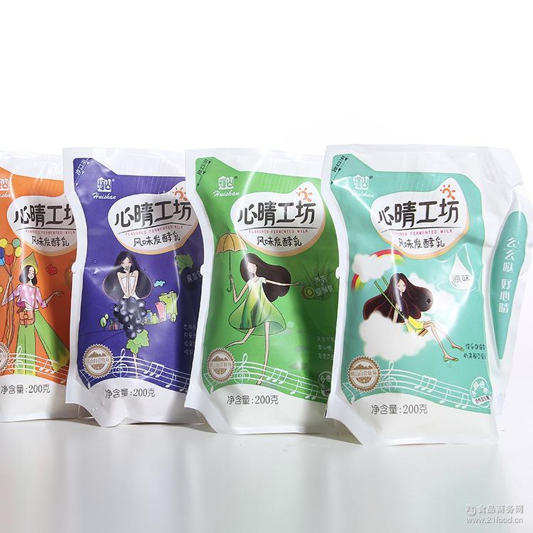 含乳酸奶饮品 多口味袋装酸奶 辉山心情工坊风味发酵乳200g/袋