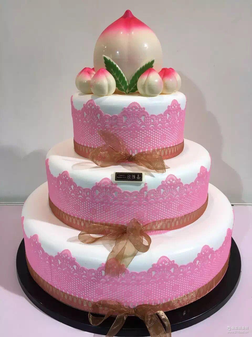 情人节翻糖蛋糕蕾丝围边软糖蛋糕蕾丝装饰花边蛋糕慕斯装饰围边