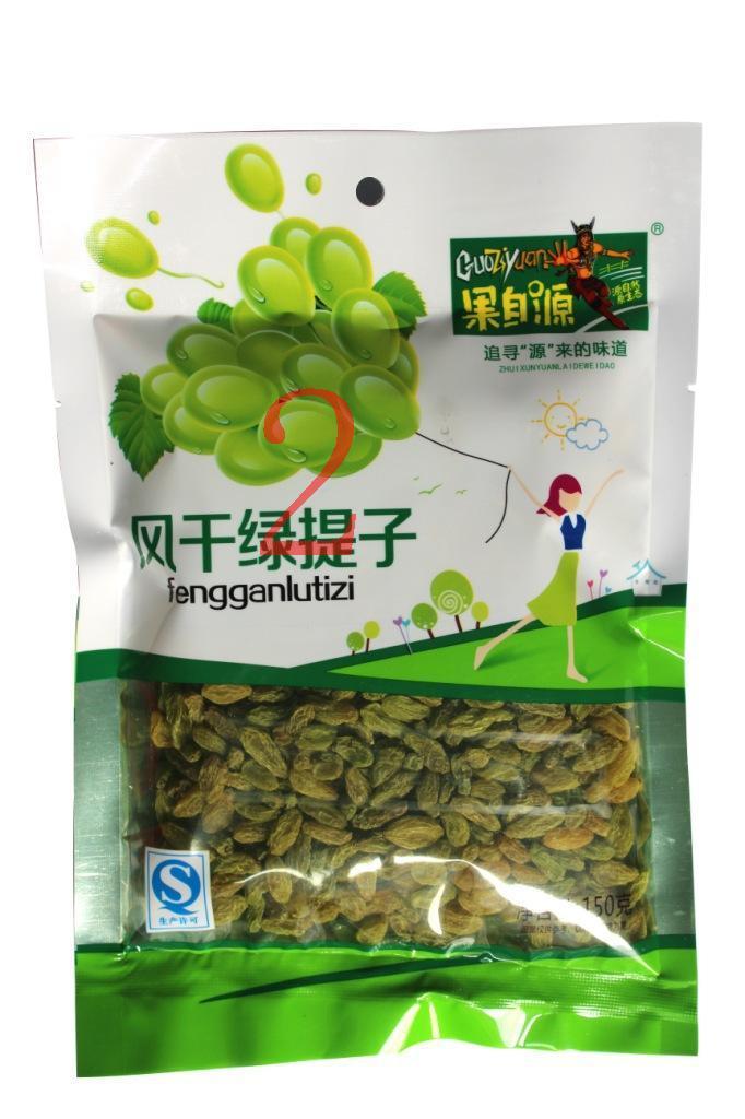 袋装葡萄干 【休闲食品】150g风干绿提子 零食 果自源