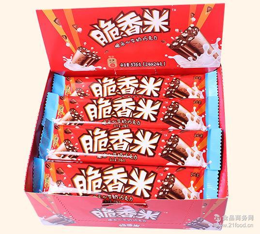 奶白24g*24块 德芙脆香米 576克 盒装 牛奶巧克力 盒 *日期