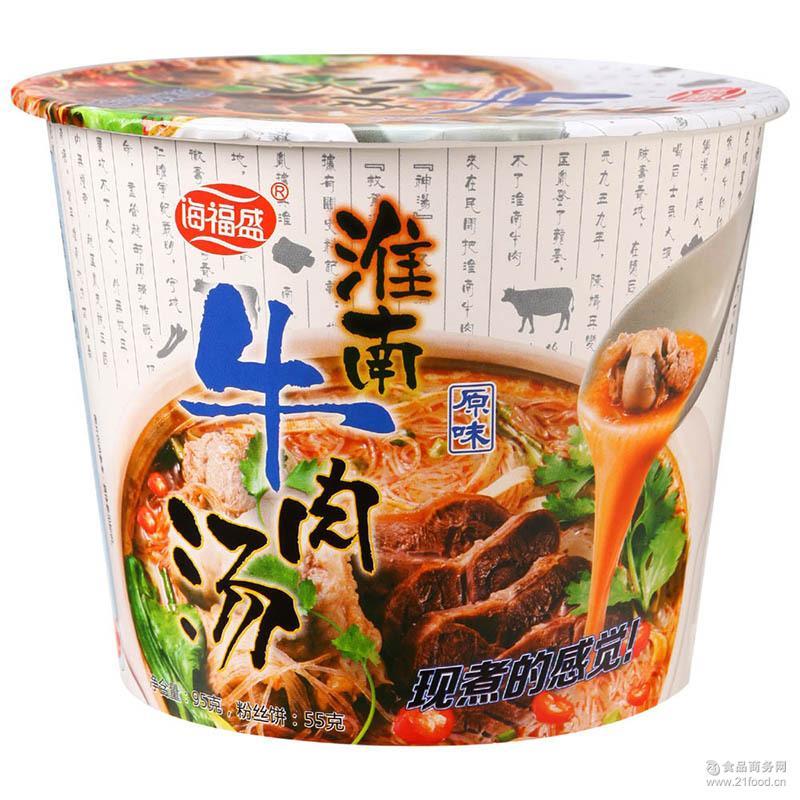 海福盛原味淮南牛肉汤粉丝方便面桶装红薯粉手工米粉米线龙口粉条