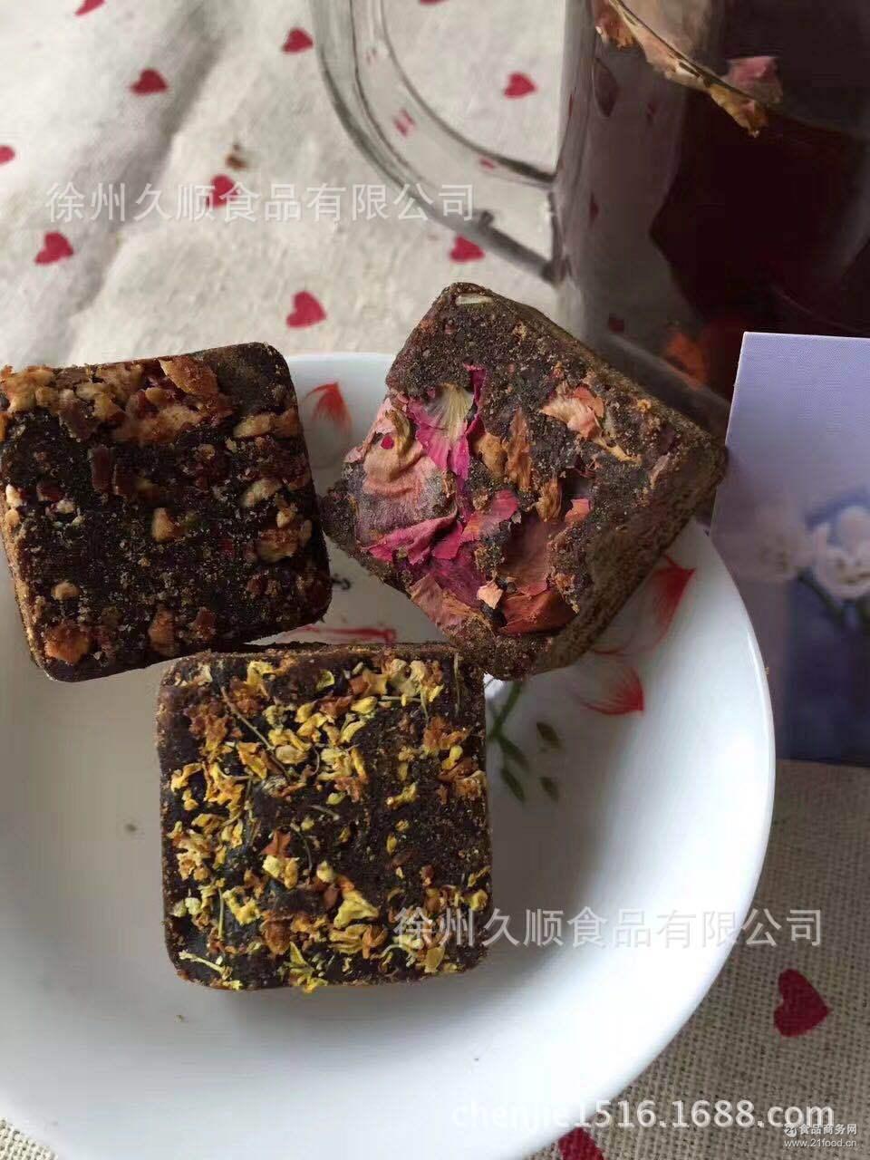 云南特产古法红糖纯甘蔗古法熬制手工红糖红玫瑰黑糖方形姜红糖