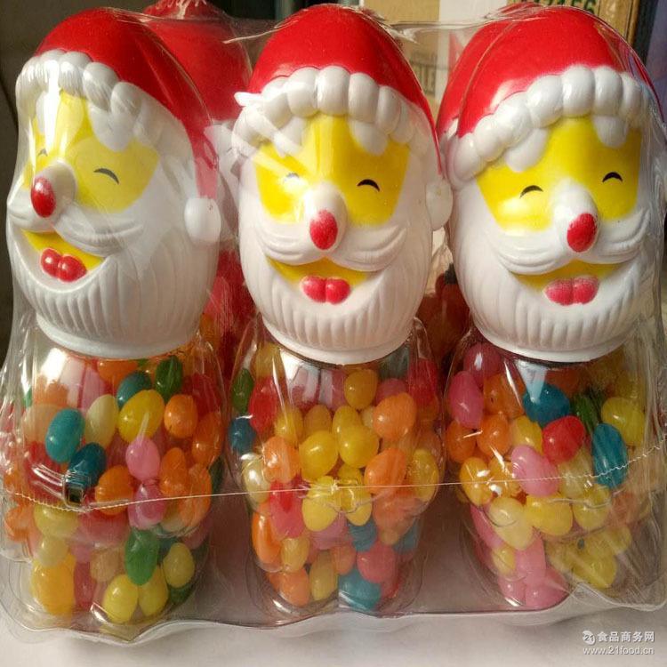 吉祥糖凝胶糖果140g圣诞儿童节创意可爱彩虹水果糖6瓶一件代发