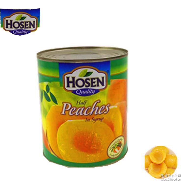 新鲜糖水黄桃罐头12罐x825g 好顺黄桃水果罐头