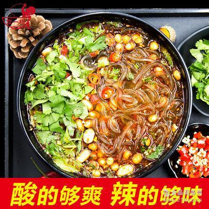 京一根 出口欧盟 QQ酸辣粉163g*1袋速食方便粉丝爽滑筋道土豆粉条