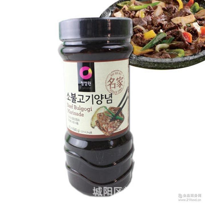 腌肉酱 韩式烧烤*清净园烤牛肉酱840g 原装进口韩国烤肉酱