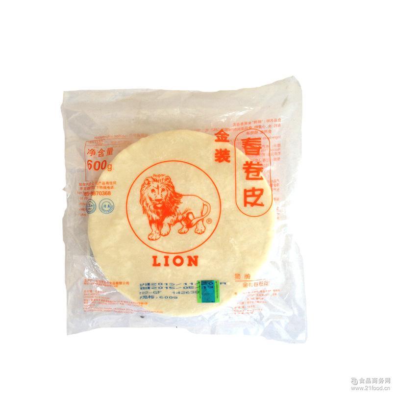 *米皮 狮牌春卷皮600g 每袋约40片 鸡肉卷皮 狮牌金装 米纸