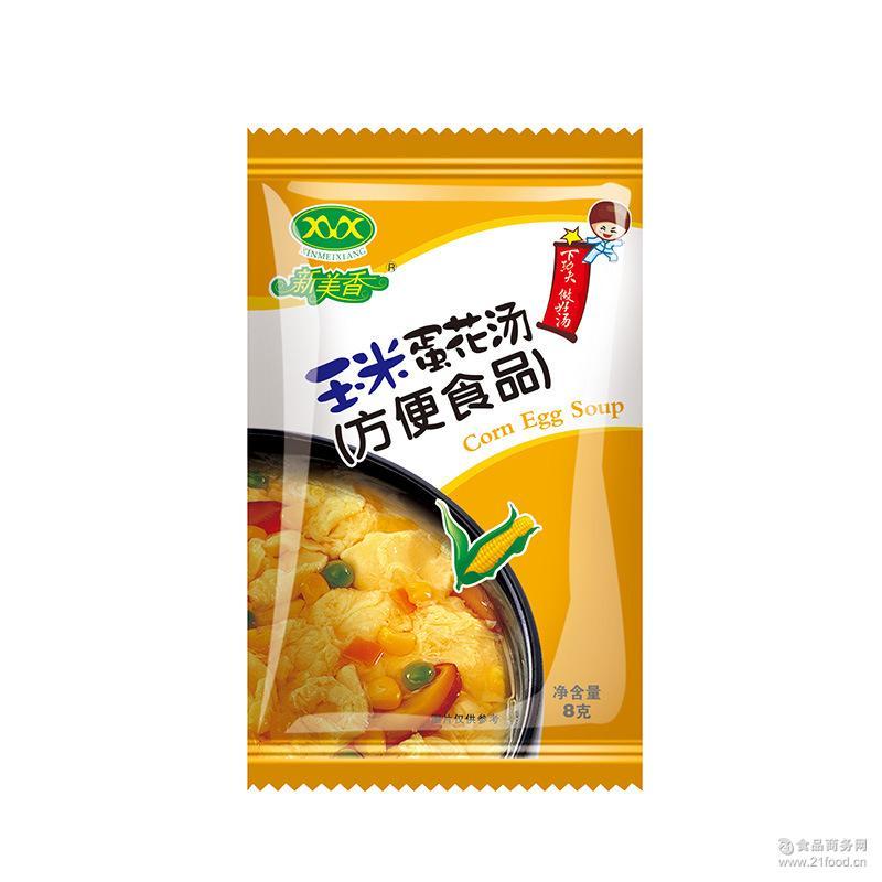 新美香菠菜紫菜番茄蛋花汤玉米100包*8g冲泡速食汤批发一袋100包