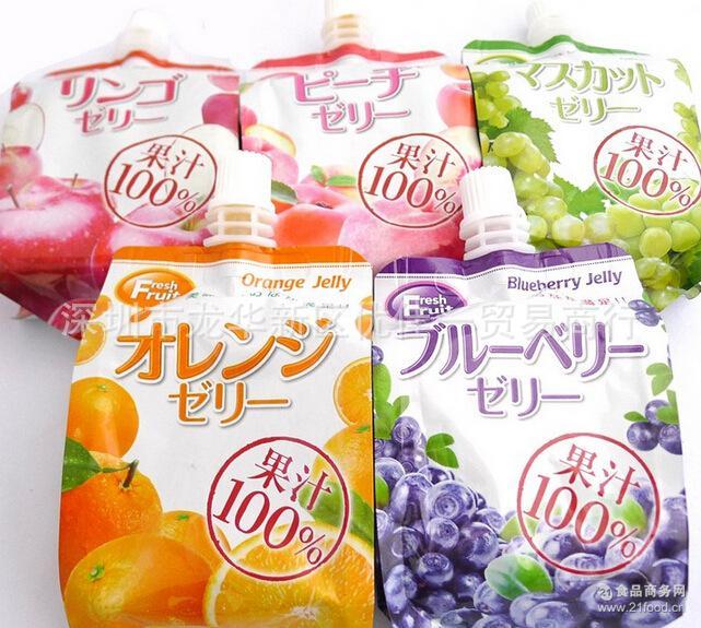 芒果 提子165g*24瓶 日式*果汁可吸果冻水蜜桃 组
