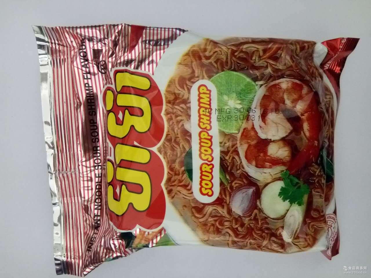 泰国食品养养方便面冬阴功海鲜面60克*30包*6小箱