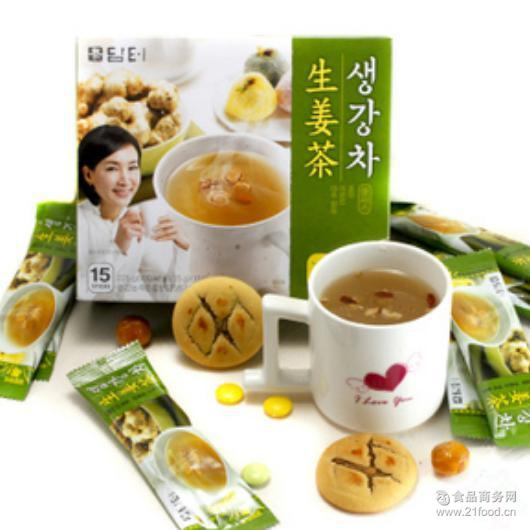 韩国进口零食 15条225g 保健茶丹特松枣杏仁生姜茶驱寒暖胃