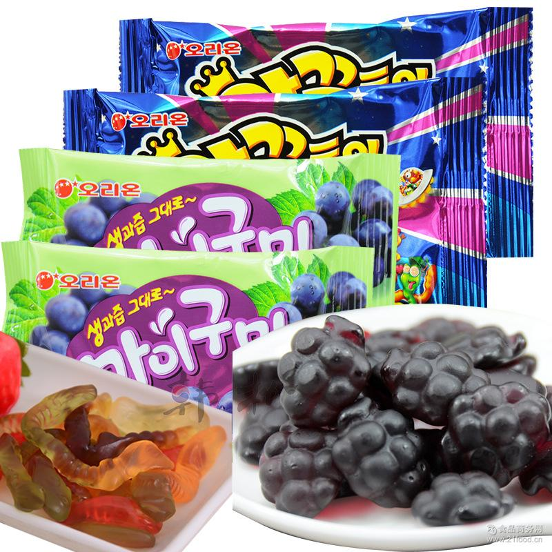 韩国进口零食 好丽友小蛇qq糖葡萄qq糖