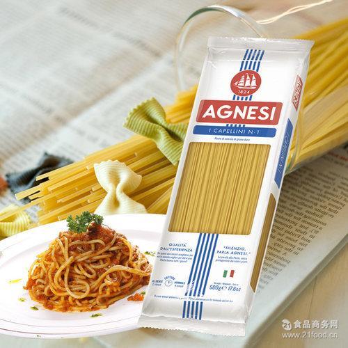 意大利进口安尼斯1号天使意大利面500克意式欧式餐厅*批发