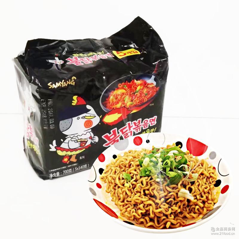 超辣 一小袋价格 火鸡面 韩国 鸡肉味拌面 三养 140g/袋