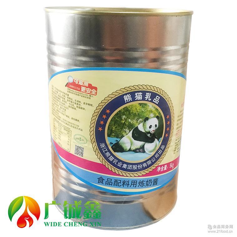 熊猫乳品炼乳5kg桶炼奶酱甜炼奶炼乳奶茶蛋糕烘焙店原料整箱4罐