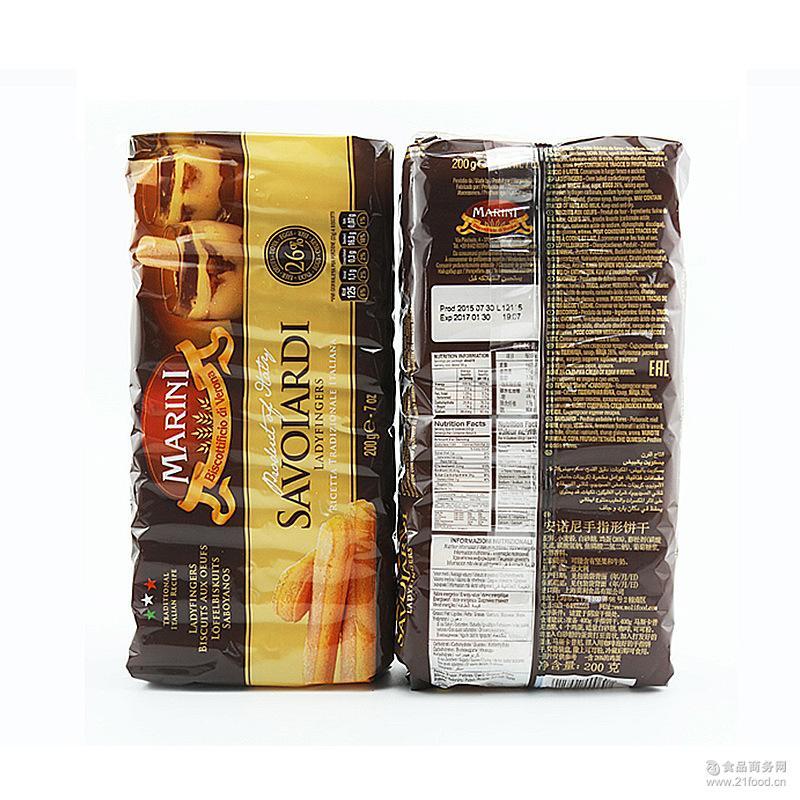 提拉米苏常备原料原装200g*20包 意大利进口 安诺尼手指饼干