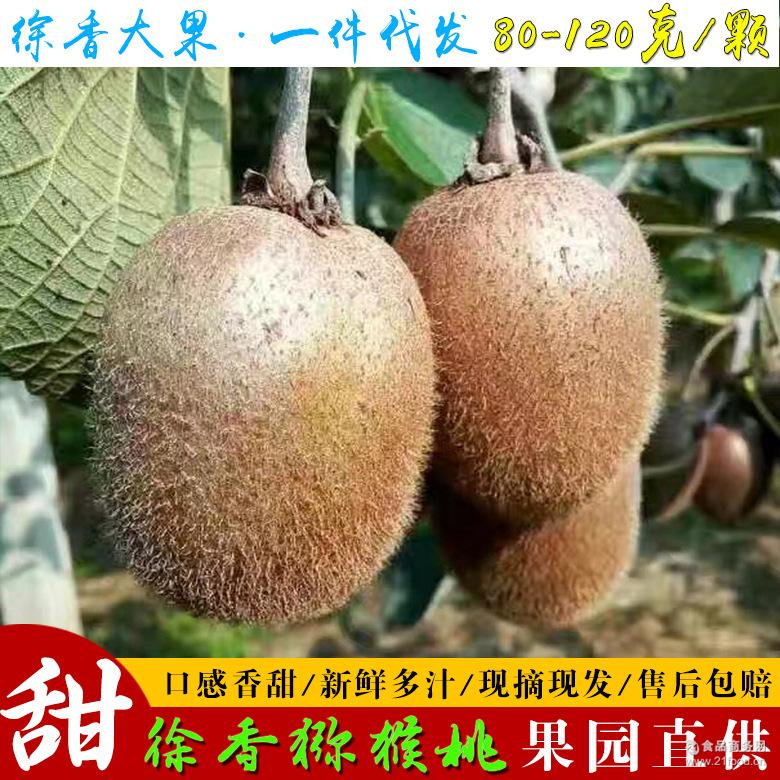 陕西特产眉县徐香猕猴桃新鲜水果绿心奇异果绿果果园现发8斤