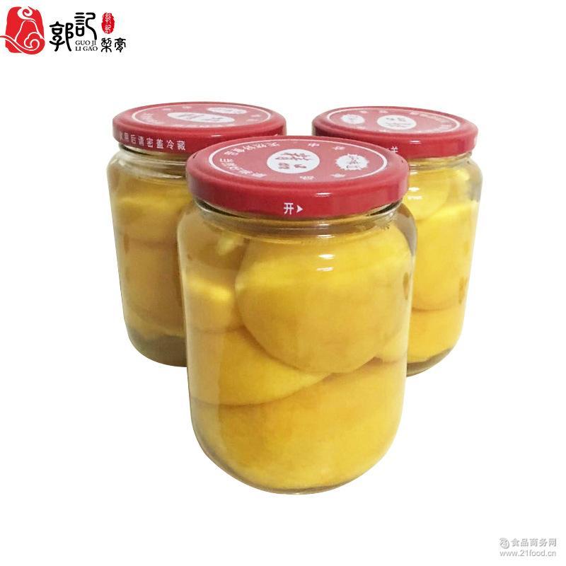 500g/罐 郭记特产 精选黄桃水果罐头 砀山黄桃糖水罐头