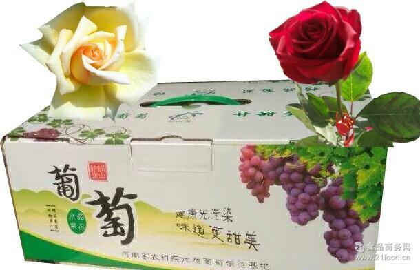 葡萄果园基地批发销售箱装 甘甜多汁新鲜玫瑰香葡萄 送人
