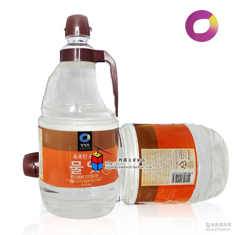 韩国料理*白糖浆2.45kg*6/箱 韩国进口白糖稀 清净园麦芽糖稀