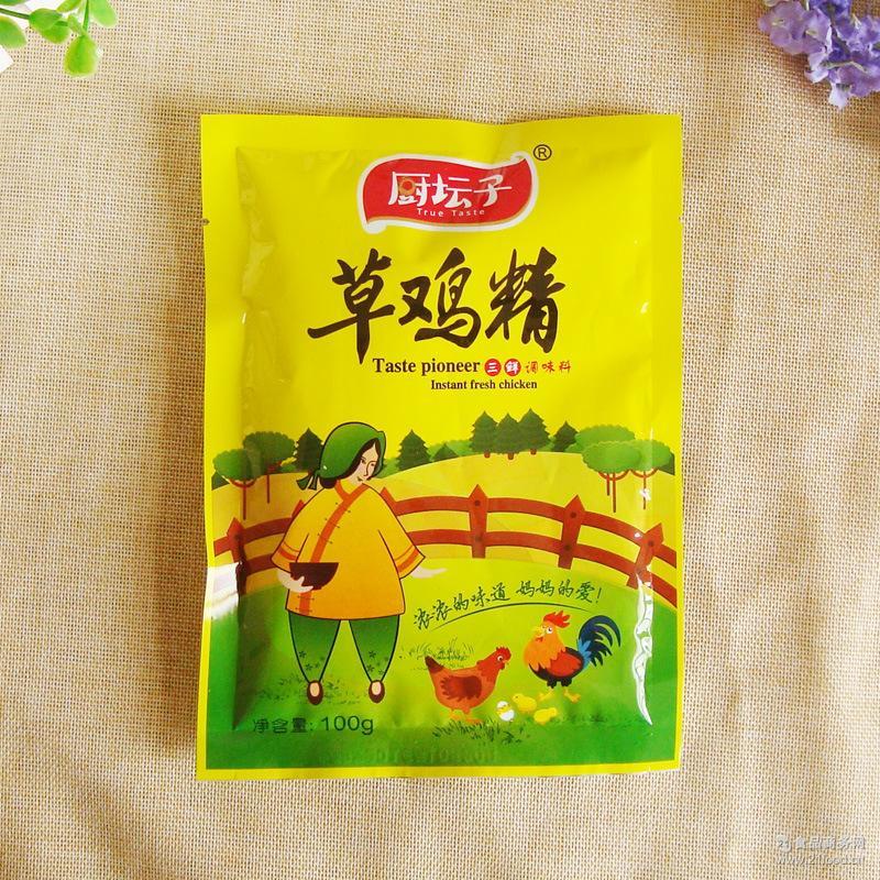 草鸡鸡精土鸡精100克 炒菜高汤调味品G 厨坛子 家庭方便装调料