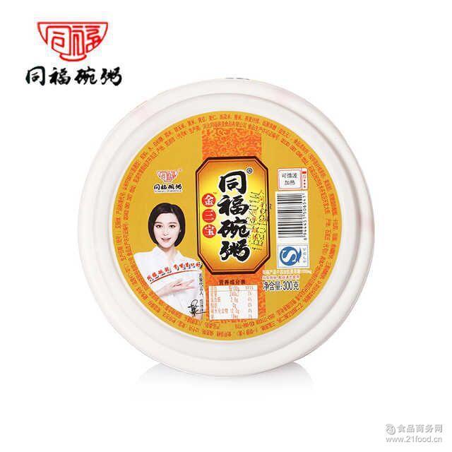 同福碗粥金三宝即食早餐粥黄豆黄米黄玉米八宝粥300g单碗