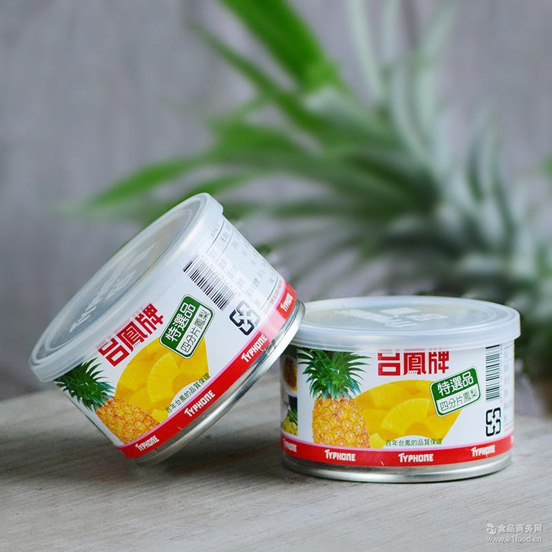 泰国原产台湾进口新鲜水果菠萝罐头台凤牌四分片凤梨罐头227g*6罐