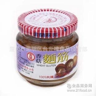 全素无添加 台湾原装进口酱菜金兰香菇面筋180g*12瓶/箱 开胃下饭