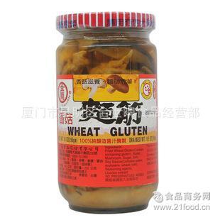 台湾原装进口酱菜金兰香菇面筋396g*12瓶/箱 全素无添加 开胃下饭