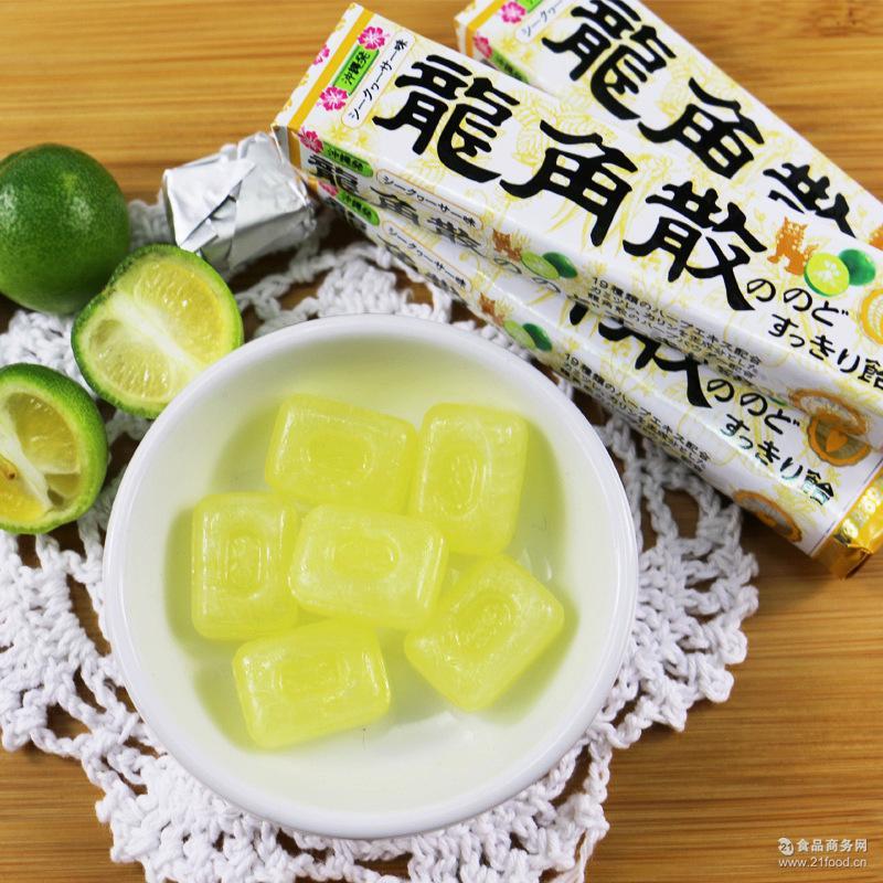 家庭* 日本进口龙角散冲绳青柠味润喉糖42g单条10粒装