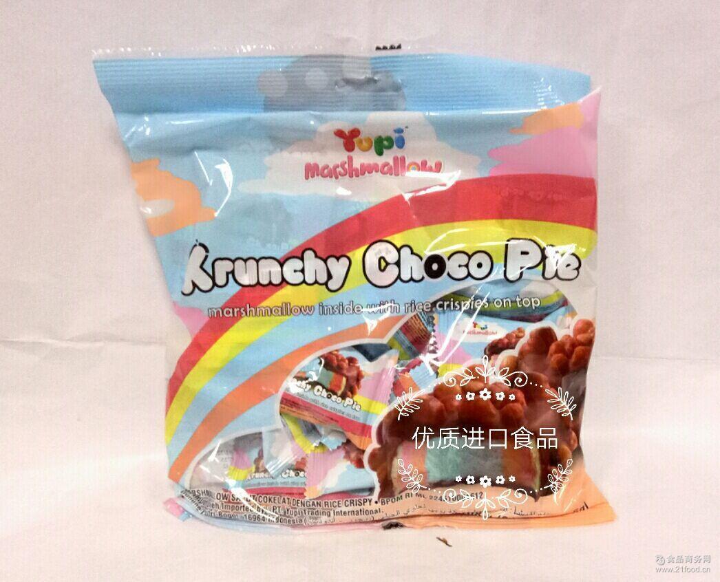 脆皮棉花糖_进口食品 Yup优皮巧克力脆皮棉花糖 印尼 108g*1包批发价格 糖果 ...