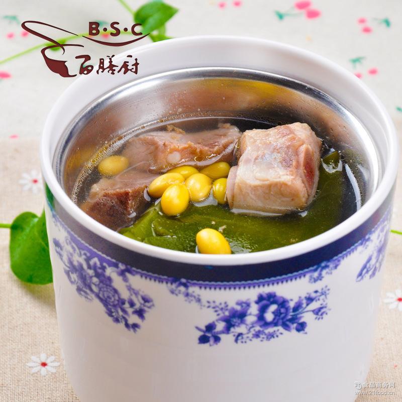 厂家批发 快餐料理包 冷冻汤料包 百膳厨108g海带排骨汤 排骨煲汤